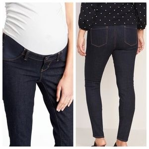 Old Navy | Dark Wash Maternity Skinny Denim Jeans